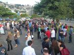 Saída da assembleia para ato nas ruas de Florianopolis.